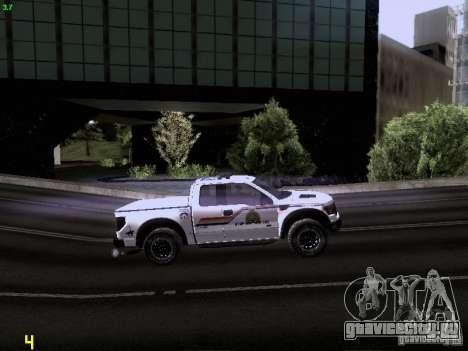 Ford Raptor Royal Canadian Mountain Police для GTA San Andreas вид сбоку