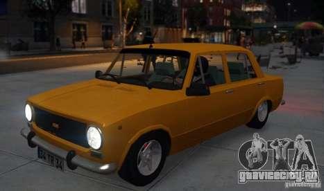 Fiat 124 для GTA 4 вид сзади