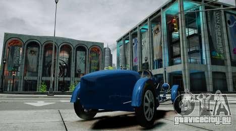 Bugatti Type 35C для GTA 4 вид сзади слева