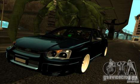 Subaru Impresa WRX light tuning для GTA San Andreas вид сверху