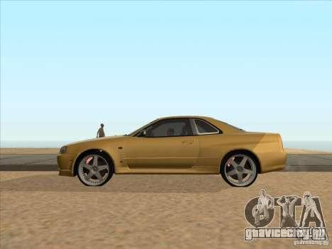 Nissan Skyline R34 VeilSide для GTA San Andreas вид слева