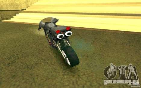 Мотоцикл из Alien City для GTA San Andreas вид справа