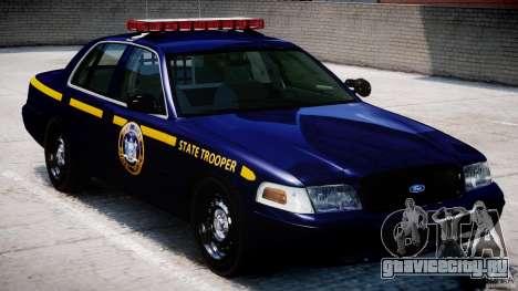 Ford Crown Victoria New York State Patrol [ELS] для GTA 4 вид сверху