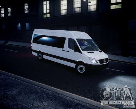 Mercedes-Benz Sprinter Long для GTA 4 вид слева
