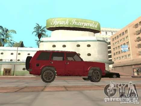 Новый Huntley для GTA San Andreas вид слева