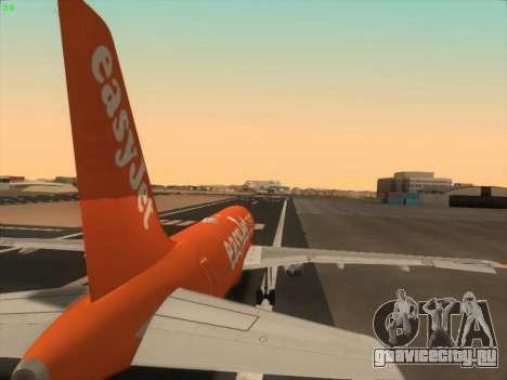 Airbus A320-214 EasyJet 200th Plane для GTA San Andreas двигатель