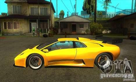 Lamborghini Diablo GT-R 1999 для GTA San Andreas вид слева