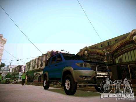 УАЗ 3160 Патриот для GTA San Andreas вид изнутри
