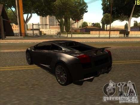 Lamborghini Gallardo Superleggera 2006 для GTA San Andreas вид справа