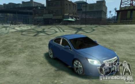 Opel Insignia OPC 2010 для GTA 4 вид сзади