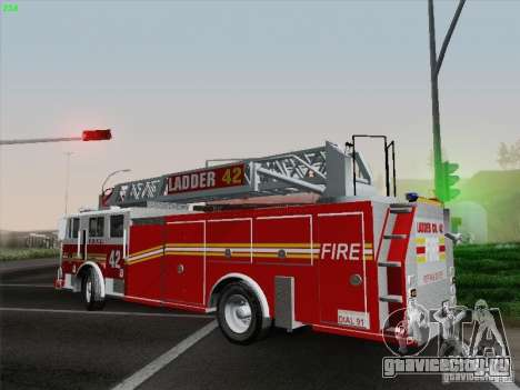Seagrave Ladder 42 для GTA San Andreas вид сбоку