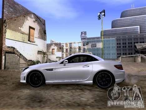Mercedes-Benz SLK55 AMG 2012 для GTA San Andreas вид сзади