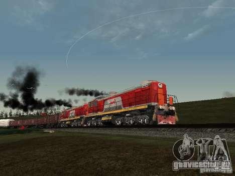 ТЭМ2-6883 РЖД для GTA San Andreas вид сбоку