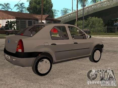 Dacia Logan 1.6 для GTA San Andreas вид изнутри