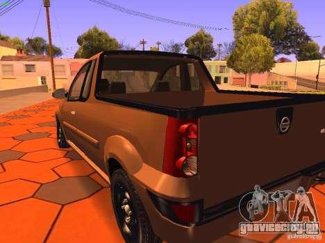 Nissan NP200 для GTA San Andreas вид сзади