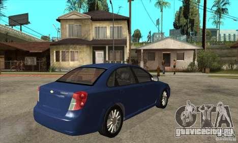 Chevrolet Optra 2011 для GTA San Andreas вид справа