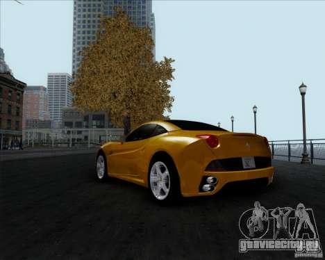Ferrari California 2009 для GTA San Andreas вид слева