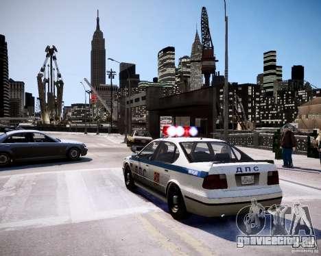 Russian Police Patrol для GTA 4 вид сзади слева