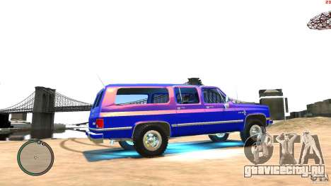 Chevrolet Suburban 1986 для GTA 4 вид сзади