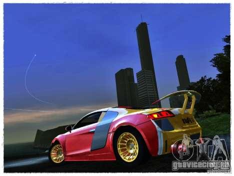 Audi R8 Calibri-Ace для GTA San Andreas вид сзади слева