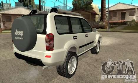 Jeep Liberty 2007 для GTA San Andreas вид справа