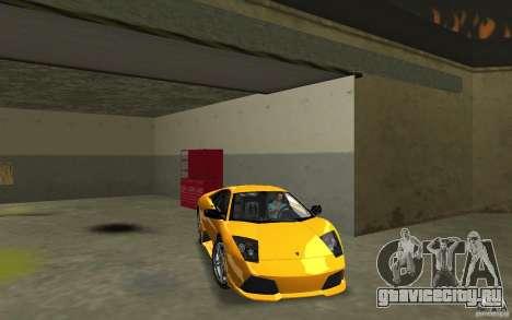 Lamborghini Murcielago LP640 для GTA Vice City вид сзади