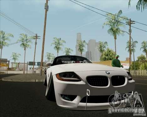 BMW Z4 Hellaflush для GTA San Andreas вид изнутри