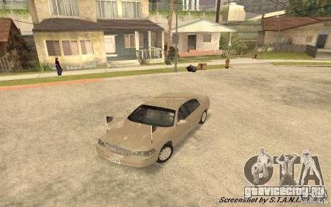 Lincoln Towncar Secret Service для GTA San Andreas вид сбоку