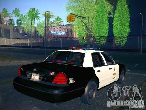 Ford Crown Victoria Police Intercopter для GTA San Andreas вид слева