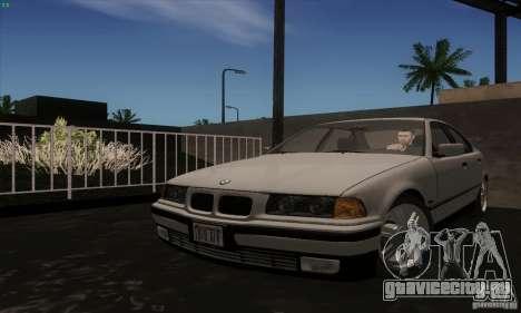 BMW 320i E36 для GTA San Andreas вид сзади слева