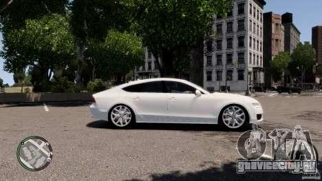 Audi A7 Sportback для GTA 4 вид сзади