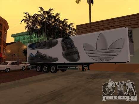 Прицеп Adidas для GTA San Andreas вид изнутри