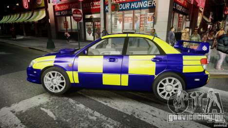 Subaru Impreza WRX Police [ELS] для GTA 4 вид слева