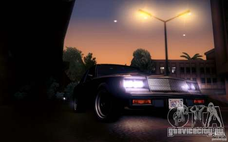 Buick Regal GNX для GTA San Andreas вид изнутри