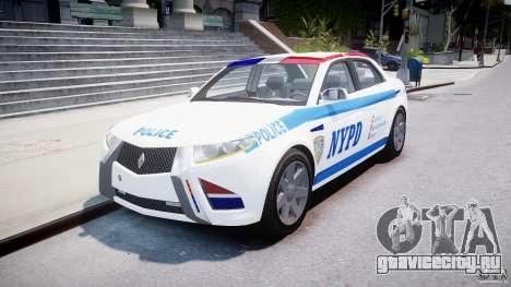 Carbon Motors E7 Concept Interceptor NYPD [ELS] для GTA 4 вид сзади