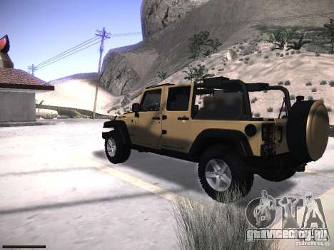 Jeep Wrangler Rubicon Unlimited 2012 для GTA San Andreas вид слева