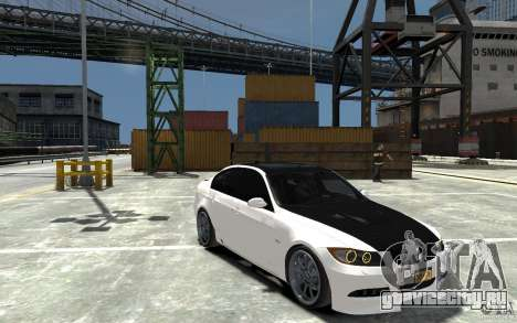 BMW 330i E60 Tuned 1 для GTA 4 вид сзади