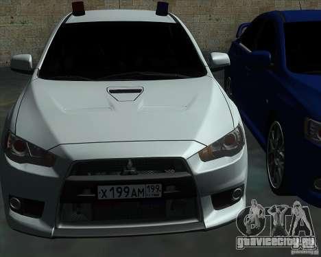 Mitsubishi Lancer Evolution X MR1 v2.0 для GTA San Andreas вид сбоку