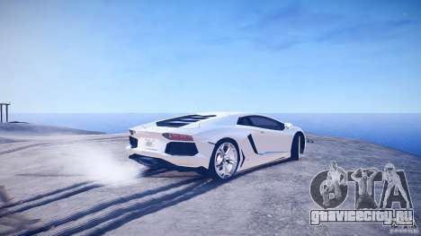 Lamborghini Aventador LP700-4 v1.0 для GTA 4 вид сзади слева