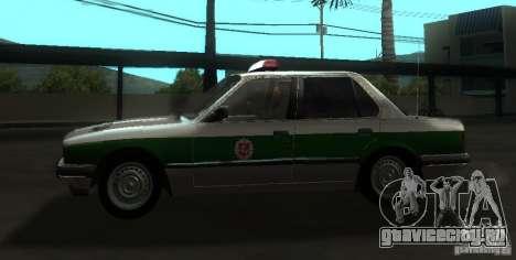 BMW E30 Sedan Police для GTA San Andreas вид слева