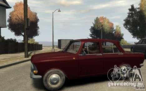 АЗЛК 412 Москвич для GTA 4 вид слева
