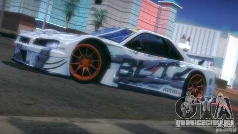Nissan Skyline Touring R34 Blitz для GTA San Andreas вид сбоку