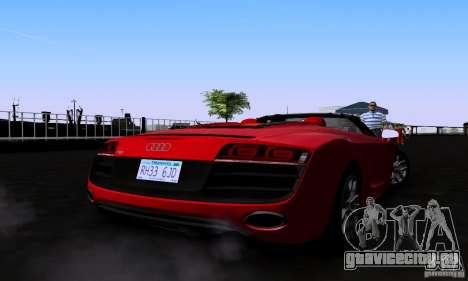 Audi R8 Spyder для GTA San Andreas вид слева