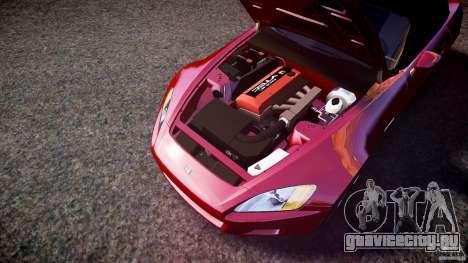 Honda S2000 v2 2002 для отжигов для GTA 4 вид снизу