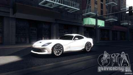 Dodge SRT Viper GTS 2012 V1.0 для GTA San Andreas вид слева