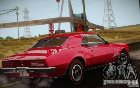 Pontiac Firebird 400 (2337) 1968 для GTA San Andreas вид снизу