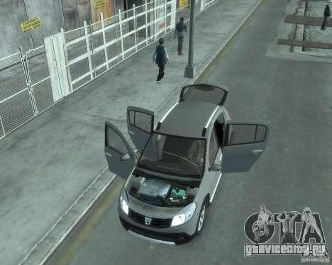 Renault Sandero v2.0 для GTA 4 вид изнутри