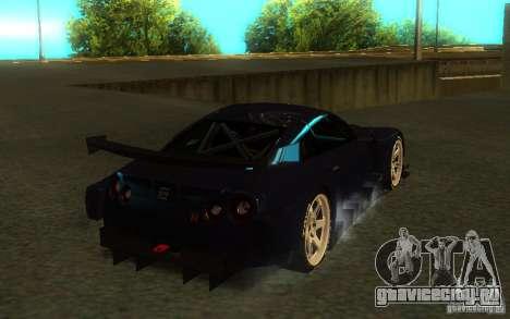 Nissan Skyline R35 GTR для GTA San Andreas вид сбоку