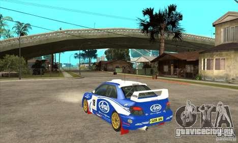 Subaru Impreza STi WRC wht1 для GTA San Andreas вид справа