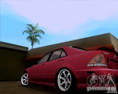 Lexus IS300 Hella Flush для GTA San Andreas вид сзади слева